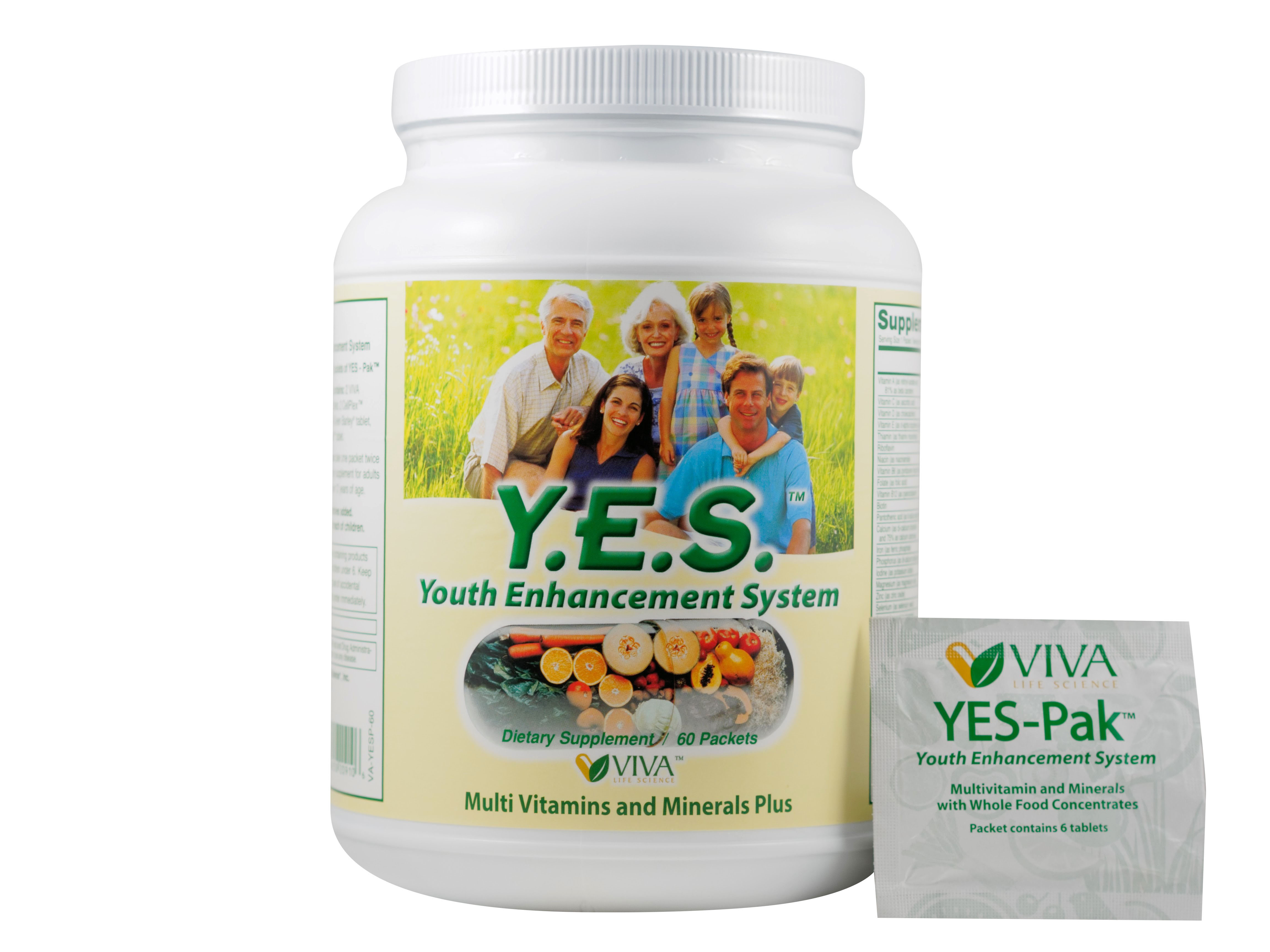 Y E S Pak Convenient Daily Supplement Packets Multivitamin